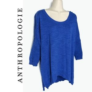 Anthro Moth Slouchy Drop Sleeve Marled Sweater S